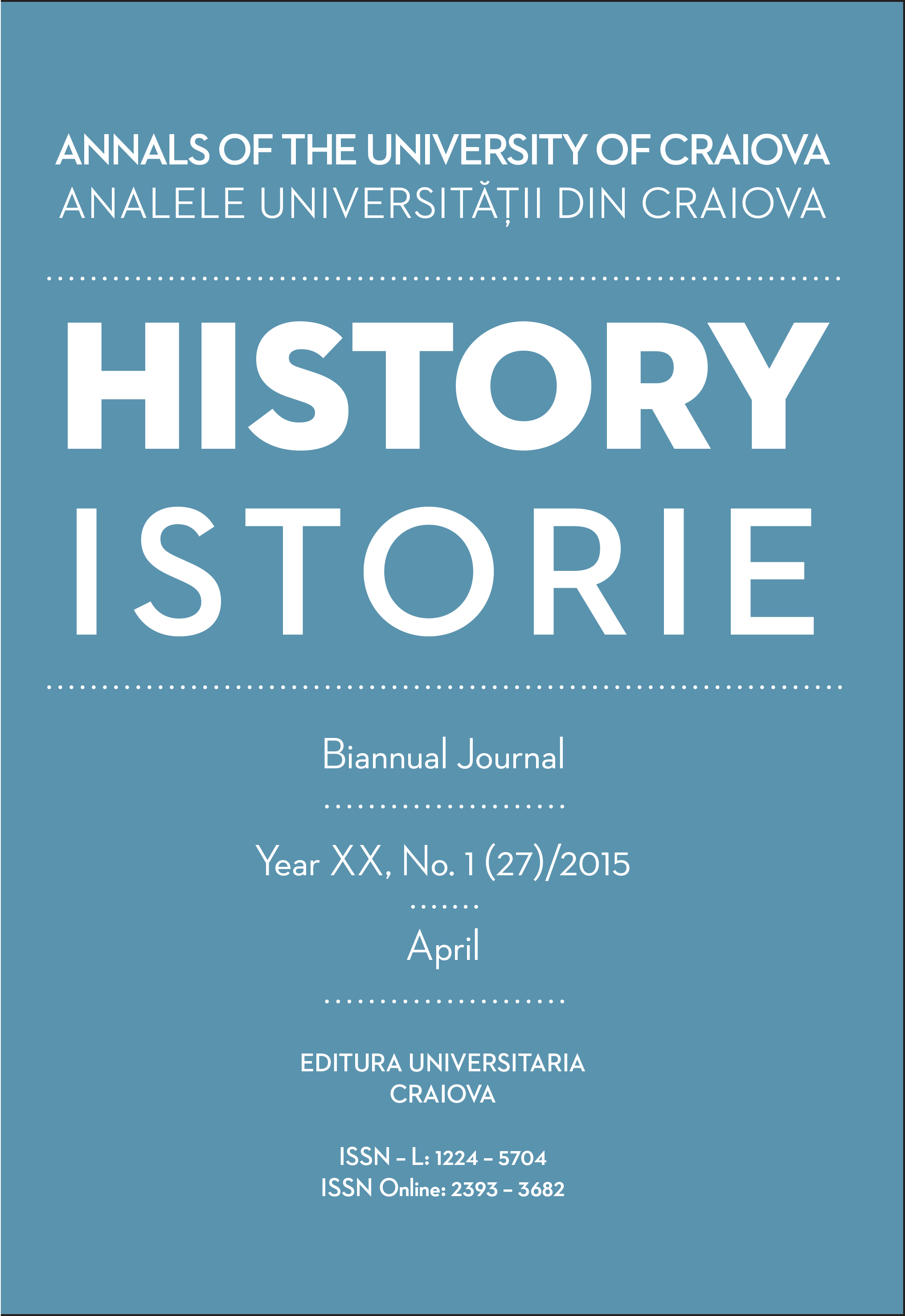 ANNALS OF THE UNIVERSITY OF CRAIOVA Year XX, No. 1(27)/2015