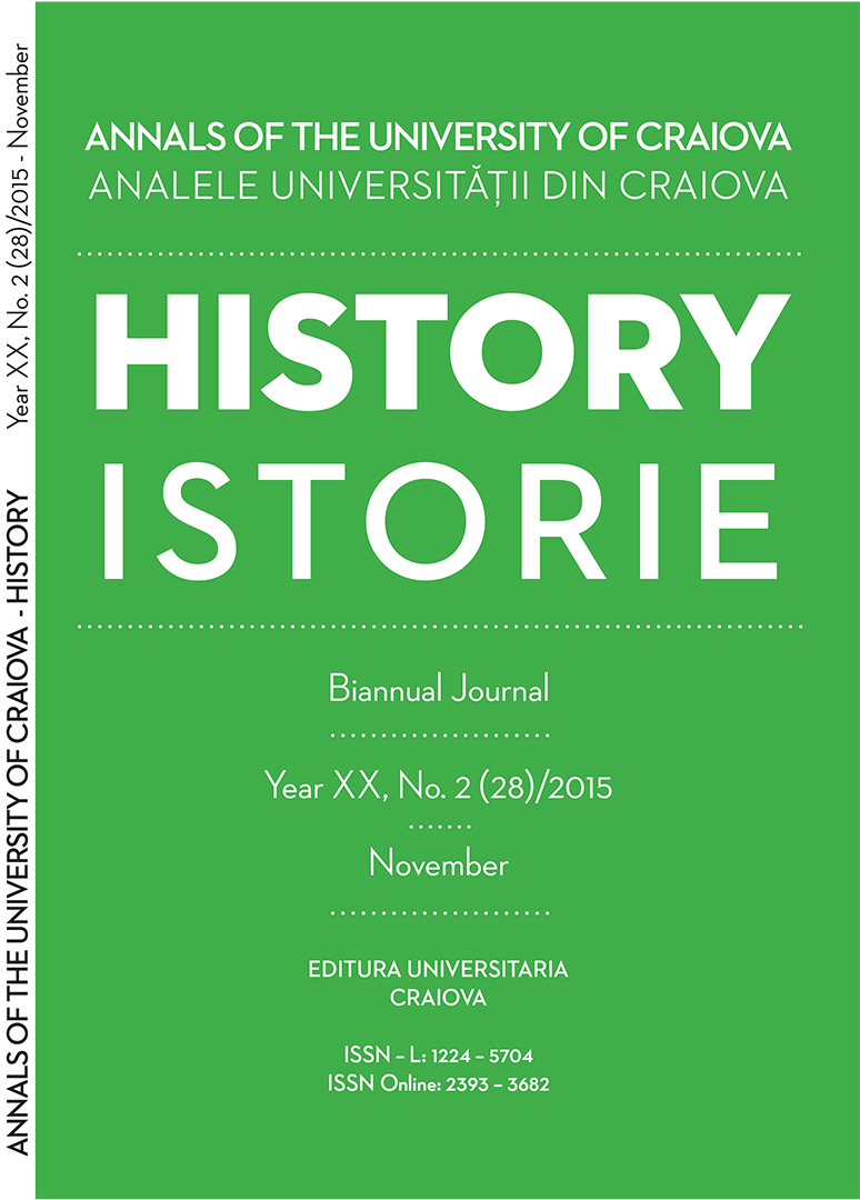 ANNALS OF THE UNIVERSITY OF CRAIOVA Year XX, No.2(28)/2015