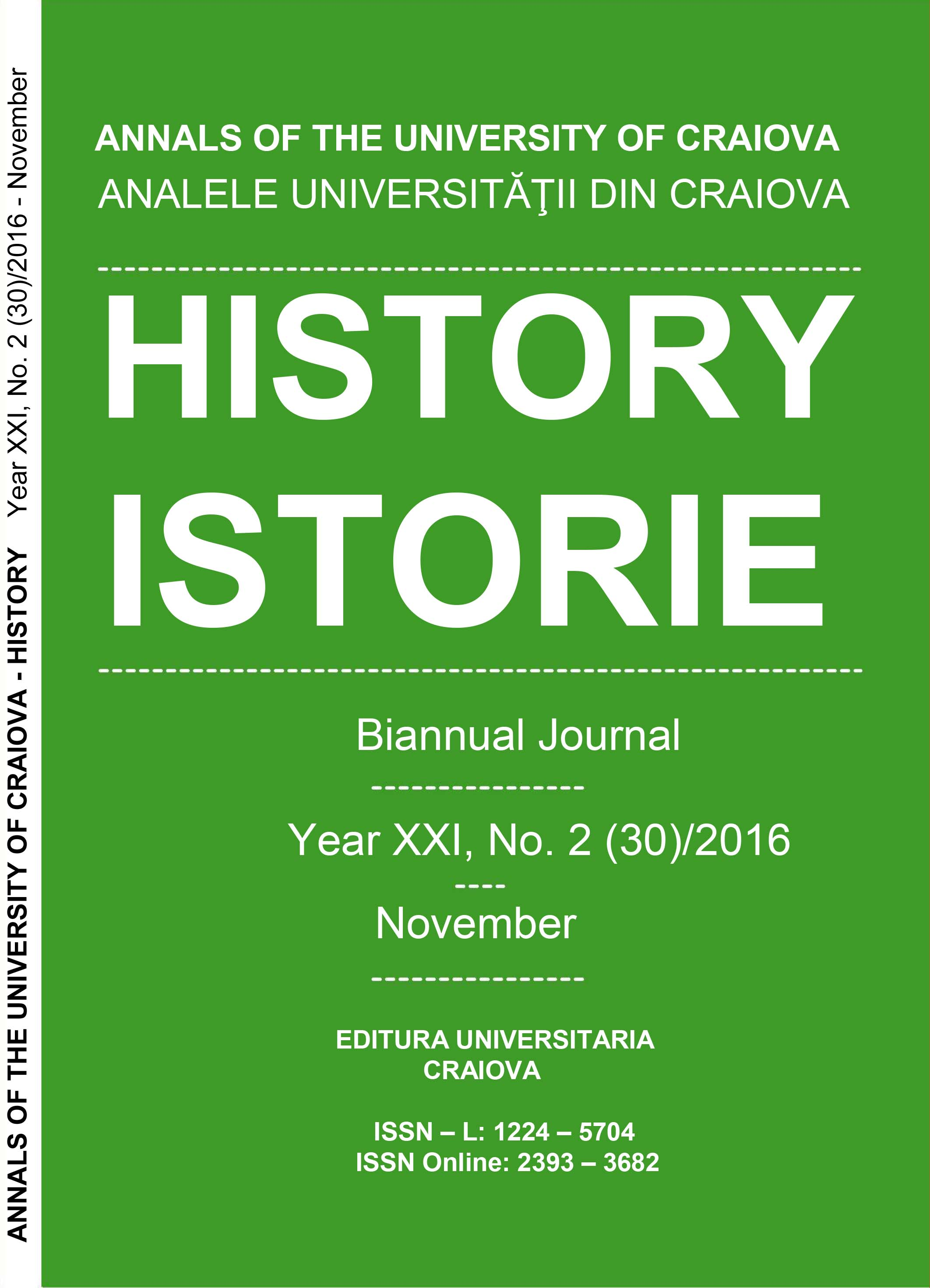 ANNALS OF THE UNIVERSITY OF CRAIOVA Year XXI, No. 2(30)/2016