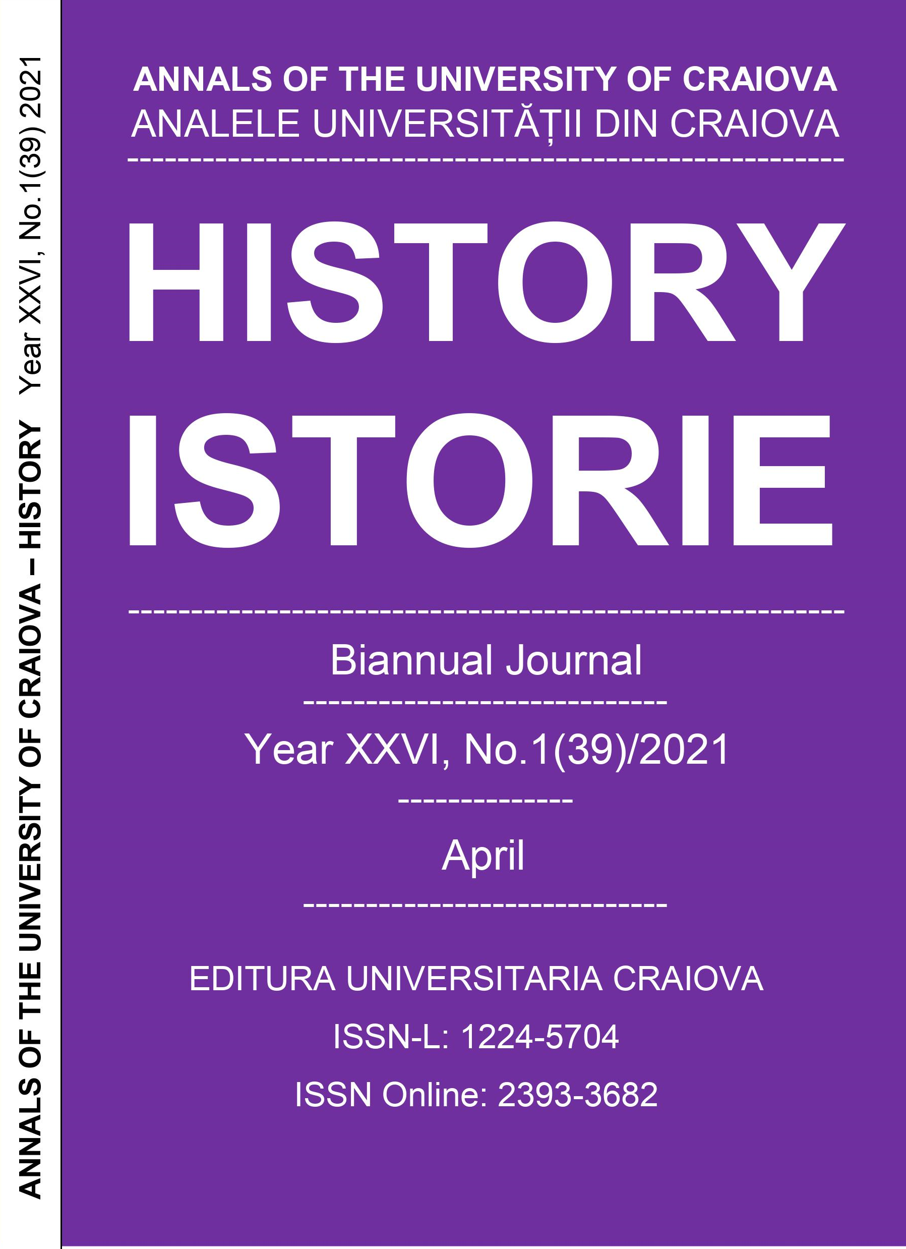 CURRENT ISSUE – APRIL 2021 - Year XXVI, No.1(39)/2021